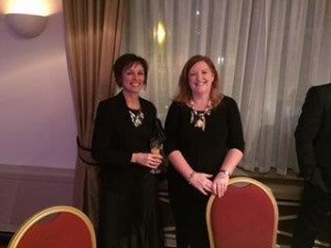 Liz Hope Chair of Swansea Women's Aid and Dr Debra Williams