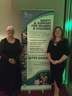 Lynne Sanders CEO of Swansea Women's Aid and Dr Debra Williams